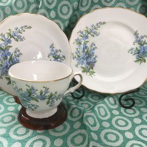 Vintage 1960 Royal Osborne English Bone China Trio